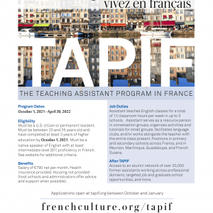 An image with information about the TAPIF program